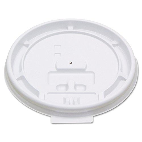 Boardwalk 8TABLID Hot Cup Tear-Tab Lids, 8 oz, White (10 Sleeves of (Tear Tab Lid)