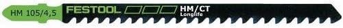 Festool 486560 HM 105//4.5 Jigsaw Blade 1-pack 5 TPI 4 1//8 Inch