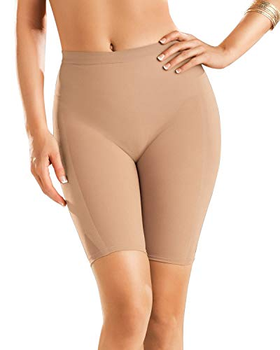 Leonisa Well Rounded Invisible Butt Lifter Shaper Short Womens Slimming Seamless Shapewear with Light Compression