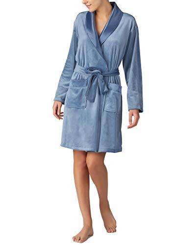 (Donna Karan Womens Short Wrap Robe,)