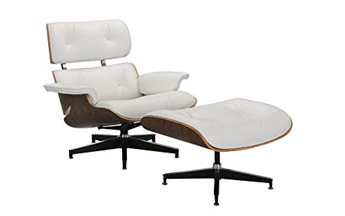 Mid Century Modern Swivel Lounge Chair and Ottoman - Eames Replica ()