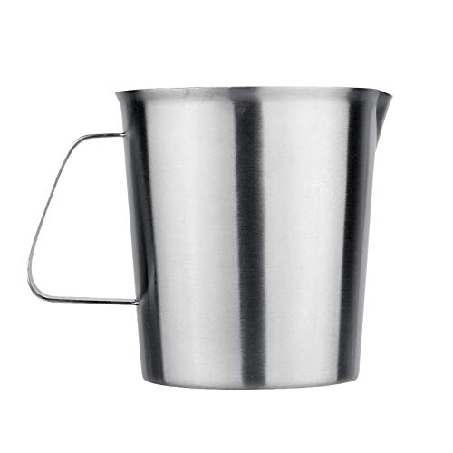 ainless Steel Milk Mugs Frother Pitcher Foam Container Measuring Coffe Mug Appliance - Moscow Office Quotes Greys Bathroom Lids Display Dollars Cold You ()