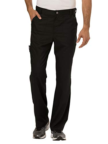 Cherokee Men's Fly Front Pant, Black, M from Cherokee