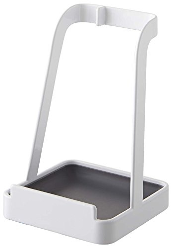 Yamazaki Tower Ladle Holder - Lid Stand for Utensils in Kitchen, White