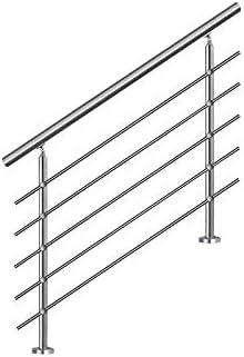 Barandilla de acero inoxidable de LZQ, para escaleras, balcones, con/sin travesaños: Amazon.es: Bricolaje y herramientas