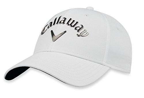 Callaway Golf 2018 Women's Liquid Metal Adjustable Hat, White/Gunmetal (White Callaway Hat)