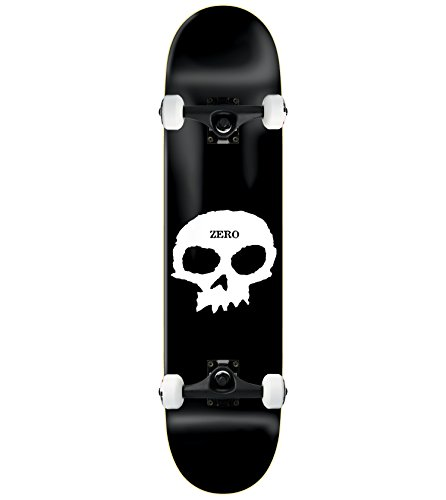 Zero Single Skull Complete Skateboard - 8.25 w/Essential Trucks by Zero