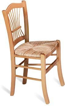 Linon Honey Pine Wheatback Chair