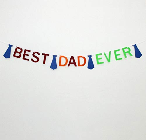 Best Dad Ever banner Happy Father's Day Bunting Banner Daddy's Day Party Decorations Backdrop Garland for Father's Day