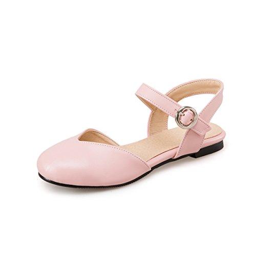 QIN de Pink Sandalias La amp;X Plano Tacón Mujer Informal pxqrp8S