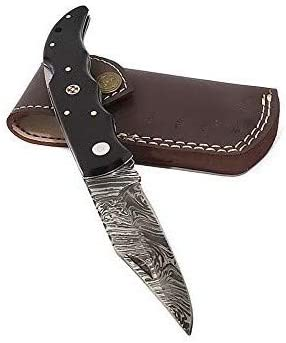 Falcon Blades FBF-17 Damascus Steel Custom Handmade Hunting Pocket Folder Knife