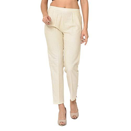 EPILOG Dyeable Khadi Trouser Pant for Girls & Women/Organic Fabric/Khadi /100% Cotton/Pant Palazzo