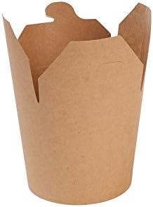 BIOZOYG Nudel-Box Take Away Asia-Box To Go envases Fideos I Caja de cartón Kraft orgánica con Tapa Plegable y PLA Revestimiento Interior compostables I 50 Cajas cartón marrón 650 ml para Fideos: