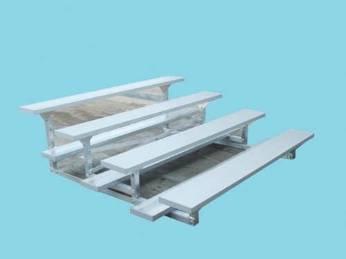 4 Row Low Rise Bleacher Standard/7.5'/Anodized Aluminum (Rise Bleacher Low)