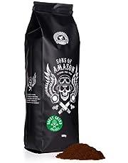 Sons of Amazon Coarse Ground Filter Coffee Beans 500g - Arabica Robusta Dark Roast - Australia's Strongest 400mg Caffeine - Rocky Grind