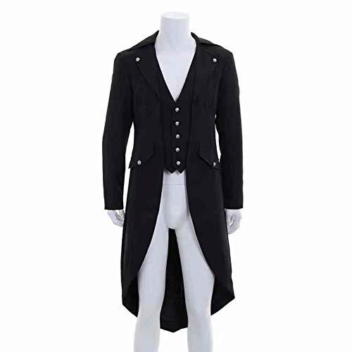 Steampunk Jacket Di Vintage Retro Da Tuxedo Coda Rondine Kenebo A Nero Uomo Monopetto Lunga Tailcoat Manica Coat Iwq8XOx4