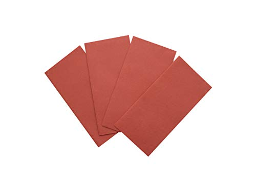 Weave Terra Cotta - Terracotta Napkins | Linen Feel Guest Disposable Cloth Like Paper Dinner Napkins | Hand Towels | Soft, Absorbent, Paper Hand Napkins for Kitchen, Bathroom,Parties,Weddings,Dinners Or Events | 50 Pack