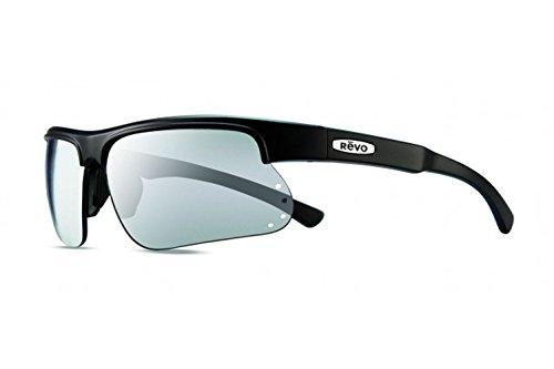 Revo Cusp S RE 1025 19 ST Polarized Rectangular Sunglasses, Matte Black/Grey Stealth, 67 - Sunglasses Lv Case