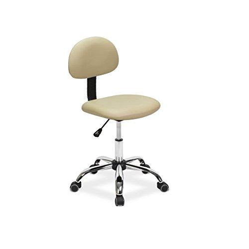 Esthetician Chair Technician Stool ALICE CREAM Pneumatic, Adjustable, Rolling Salon Furniture & Equipment (Alice Furniture)