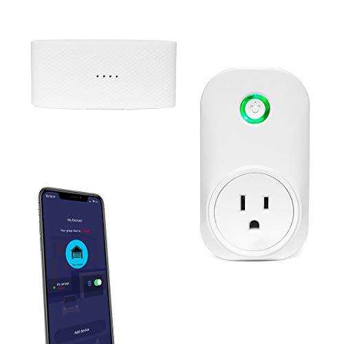 Smart WiFi Garage Door Opener, Wireless & WiFi Remote Smart Phone Controlled, Compatible with Amazon Alexa, Google Assistant, IFTTT, No Hub Required (Smart Garage Door Opener)
