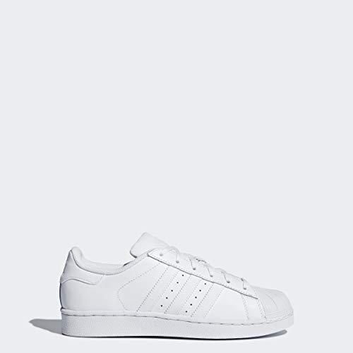 adidas Originals Junior's Superstar Sneaker, White/Core White/White, 5
