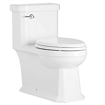 Mirabelle Amberley 1.28 GPF One-Piece Elongated ADA Height Toilet with Slow-Close Seat and Cover
