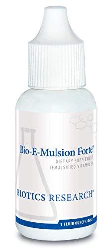 Biotics Research Bio-E-Mulsion Forte - 1 fl. oz (30 ml), 5 Drops 30 IU Vitamin E, Emulsified, Supports Cell Function, Potent Antioxidant Supports Immune Function. Heart Health. 1 Fl Oz ()