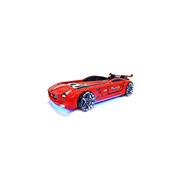 xtrm factory 81 lit voiture enfant le lit roadster garon 90cmx190cm rouge - Lit Voiture Enfant