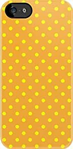 SUUER Polka Dots Yellow and Orange Custom Hard CASE for iPhone 5 5s Durable Case Cover