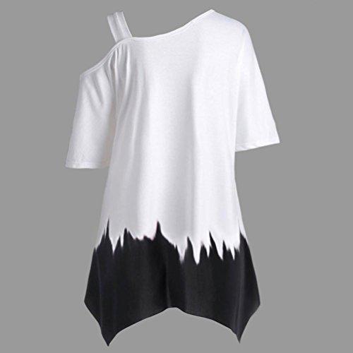 Manches Tunique Blouse Vert Col HUI Ourlet Casual Lache paule Shirt Unique HUI Papillon Tops Taille Chemisier Grande Courtes Rond Femme Irrgulier Chic Imprim T F8I8YT