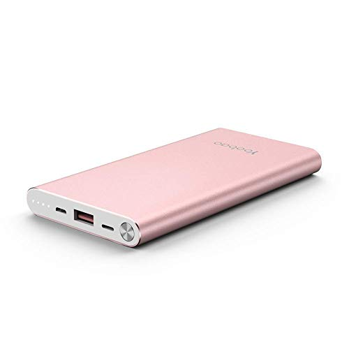 Yoobao Portable Charger 10000mAh Slim Power Bank Powerbank External Cell Phone Battery Backup Charger Battery Pack with Dual Input Compatible iPhone X 8 7 Plus Android Samsung Galaxy More - Rose Gold from Yoobao