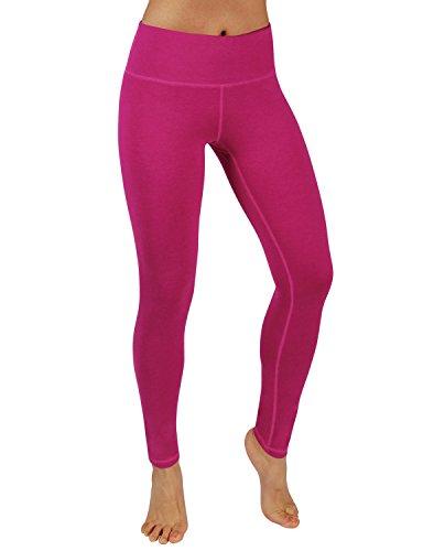 - ODODOS Power Flex Yoga Pants Tummy Control Workout Non See-Through Leggings with Pocket,Fuchsia,Small