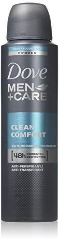 Comfort Antiperspirant Deodorant - New Dove Men+Care Clean Comfort Anti-Perspirant Deodorant Spray 150 Ml (2 Can)
