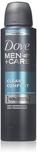 New Dove Men+Care Clean Comfort Anti-Perspirant Deodorant Spray 150 Ml (2 Can)