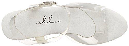 Ellie Chaussures Femmes 709-glitter Plate-forme Sandale Argent