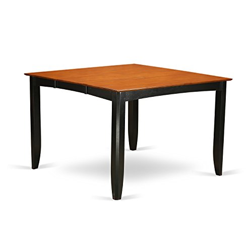 East West Furniture FAT-BLK-T Gathering Counter Height Dining Table with 18-Inch Butterfly Leaf, Black/Cherry Finish Cherry Square Butterfly Table