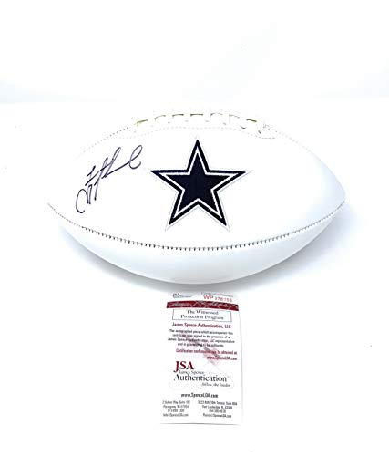 Troy Aikman Dallas Cowboys Signed Autograph Embroidered Logo Football Aikman GTSM Hologram JSA Witnessed Certified