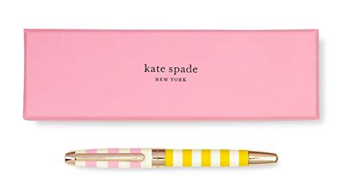 - Kate Spade New York Black Ink Ballpoint Pen, Two-Tone Stripe (pink)