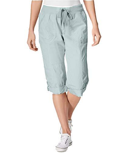 Calvin Klein Women Medium Performance Poplin Capris Pants Blue M