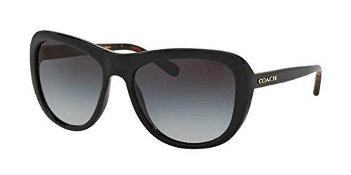 Coach Women's HC8202 Sunglasses Black/ Black Tortoise / Light Grey Gradient - Coach Men Sunglasses