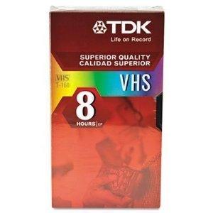 Vhs T-160 Tdk (TDK VHS T-160 8 Hours 7 Pack)