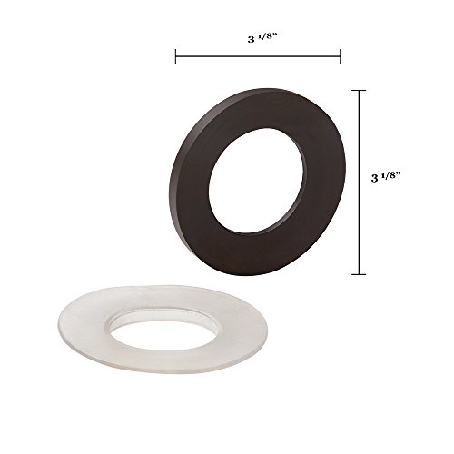 Mirror Vessels (Ronbow Essentials Mounting Ring - For Between Glass Vessel And Top - Oil Rubbed Bronze 704001-RB)