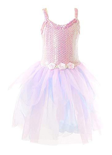 (My Princess Academy Sequin Bodice Rosette Princess Dress, Pink & Blue - Small)