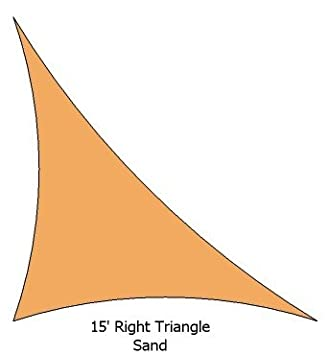 15 Right Triangle Sand Color Premium Quality Heavy Duty Sun Shade Sail Made in USA