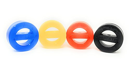 Puck Teeth - Zeus Power Puck Dog Toy (4 Puck Set - Blue, Orange, Black, Yellow)