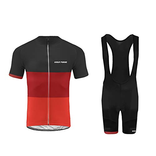 Uglyfrog MTB Racing Wear Men's Full Zipper Cycling Jerseys Long/Short Sleeves MTB Bike Shirts/Short with Quick Dry…