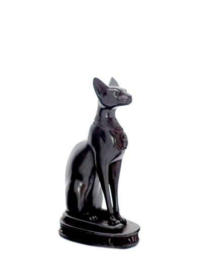 Discoveries Egyptian Imports Bastet Cat Goddess Statue - Black - 8