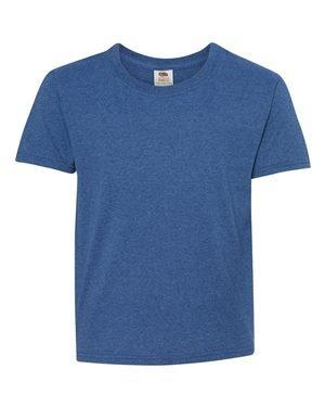 Fruit of the Loom Heavy Cotton HD T-Shirt (3931B) Retro Heather Royal, XL