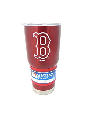 (Boelter MLB Boston Red Sox 30 oz. Ultra Tumbler MLB Boston Red Sox, Black,)