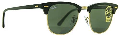 Ray-Ban Black Clubmaster RB 3016 W0365 49mm + Free SD Glasses + Cleaning - 49mm Clubmaster Ray Ban 3016